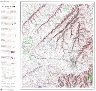 Carte Topographique AL_KHEMISSAT Morocco 50000 (50k) Topographic map free download
