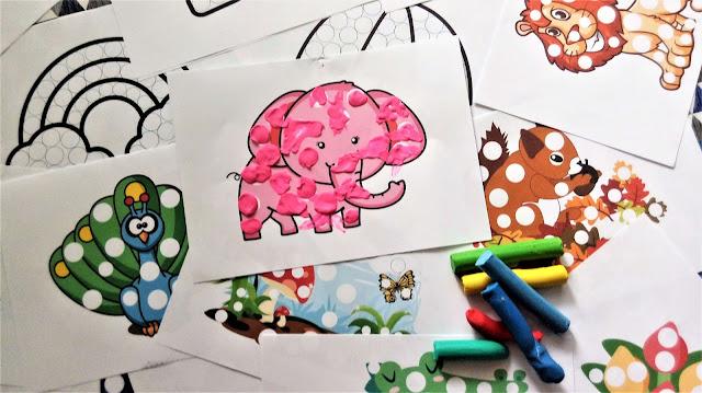 plastelinowe wyklejanki zabawy plasteliną dla dzieci, karty pracy do wyklejania plasteliną, kontury do uzupełnienia plasteliną i patch game