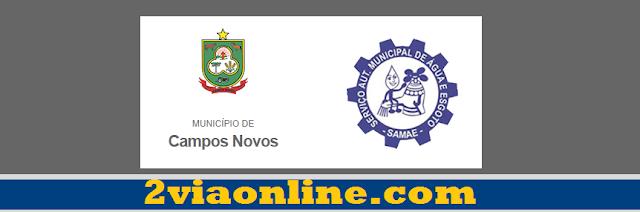 SAMAE Campos Novos: confira como consultar fatura e gerar boleto 2Via SAMAE Campos Novos