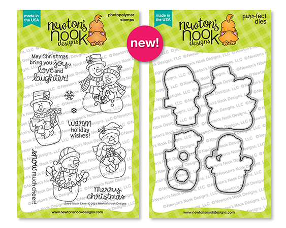 Snow Much Cheer | Christmas Snowman Stamp Set and Die Set by Newton's Nook Designs