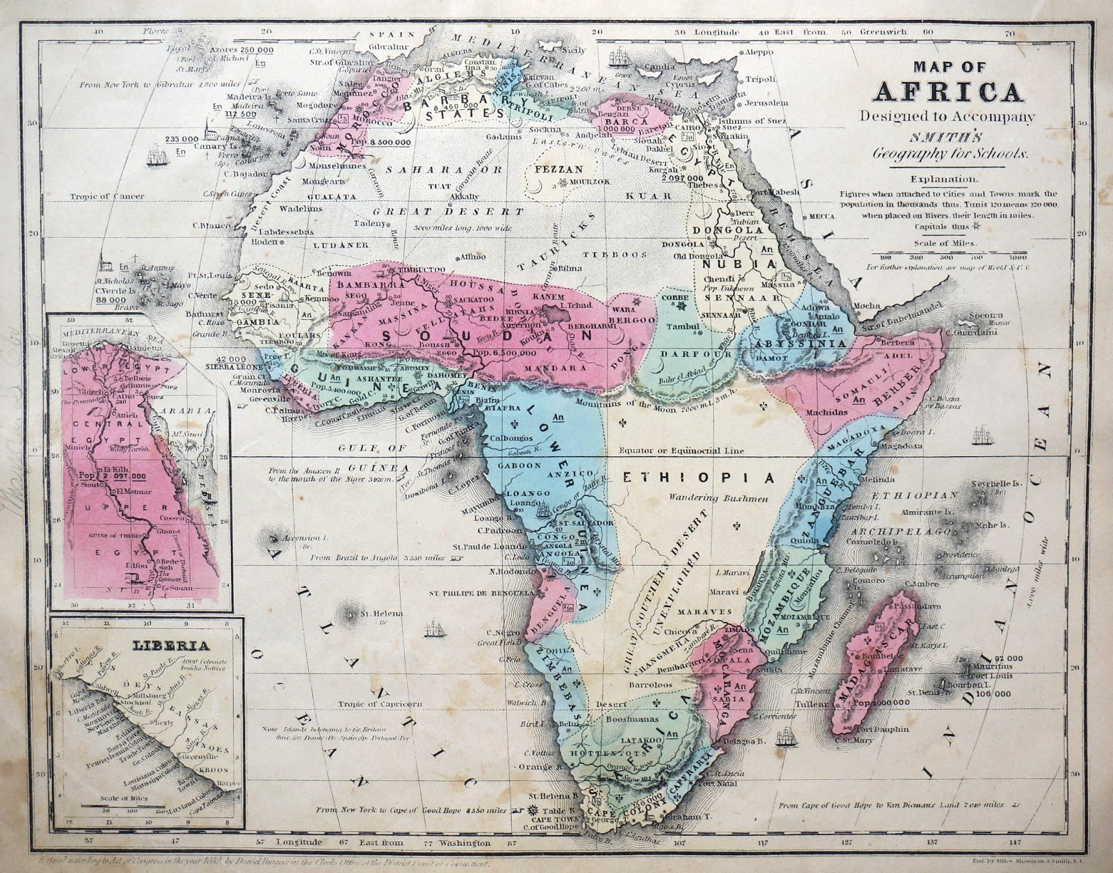 Map of Africa (1839)