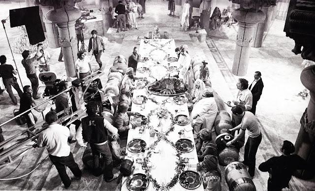 Fotografías de Indiana Jones y el templo maldito detrás de las cámaras