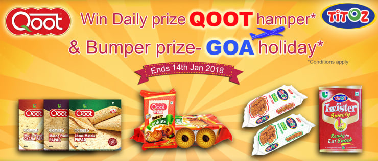 Win free Gifts from Qoot Masti bumper prize trip to goa FREE