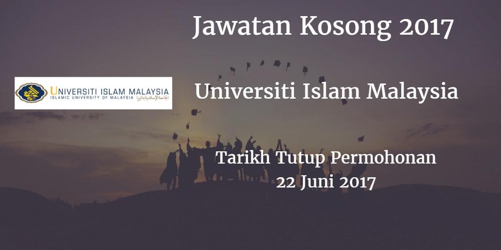 Jawatan Kosong UIM 22 Juni 2017