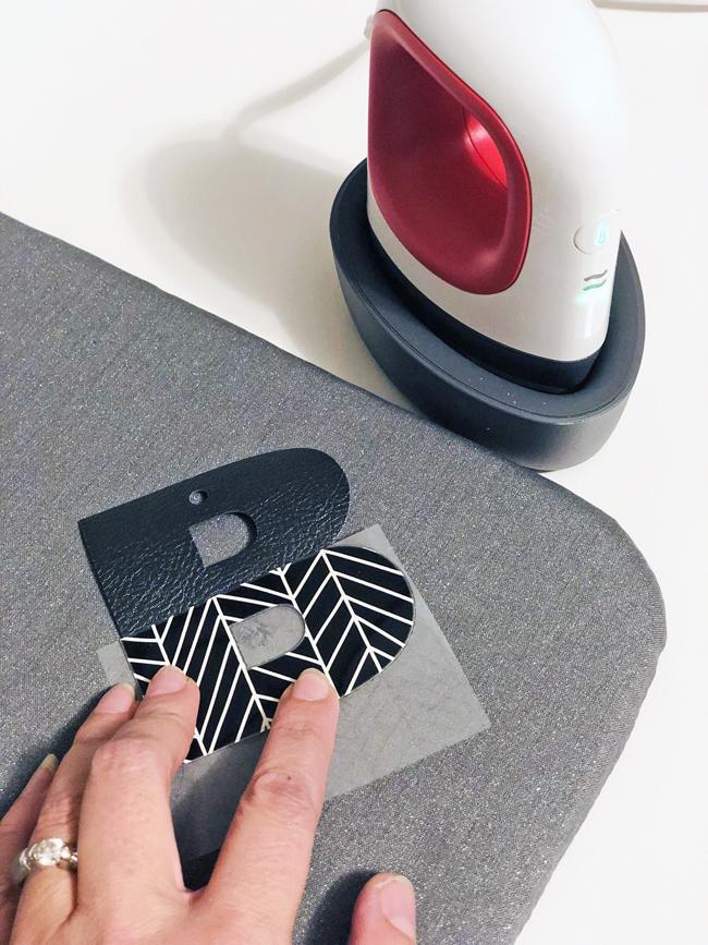 Cricut iron on vinyl on leather with Easy Press Mini