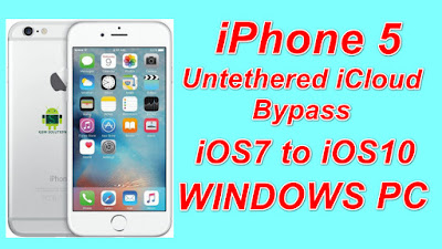 iPhone 5 Untethered iCloud Bypass iOS7 to iOS10 Free Download Tool On Windows Pc.