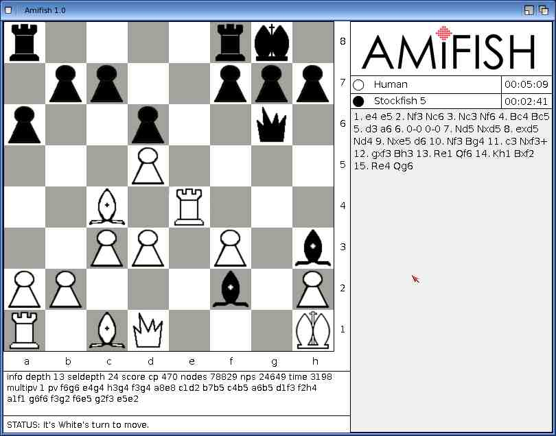 Chess Engines Diary: Amifish: Chess program interface for