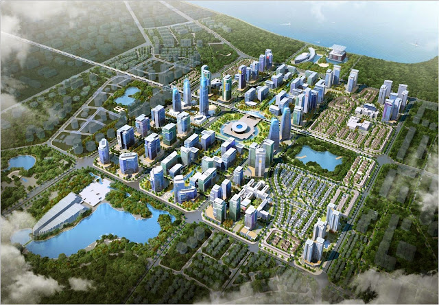 Mô hình phát triển giai đoạn 1 khu đô thị Tây Hồ Tây