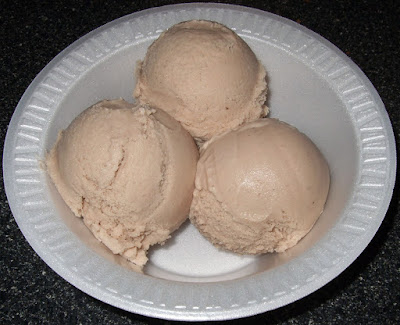 Scoops of ice cream.