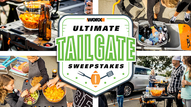 In anticipation of the upcoming football season, here's your chance to win a WORX Ultimate Tailgate Prize Package for game day!