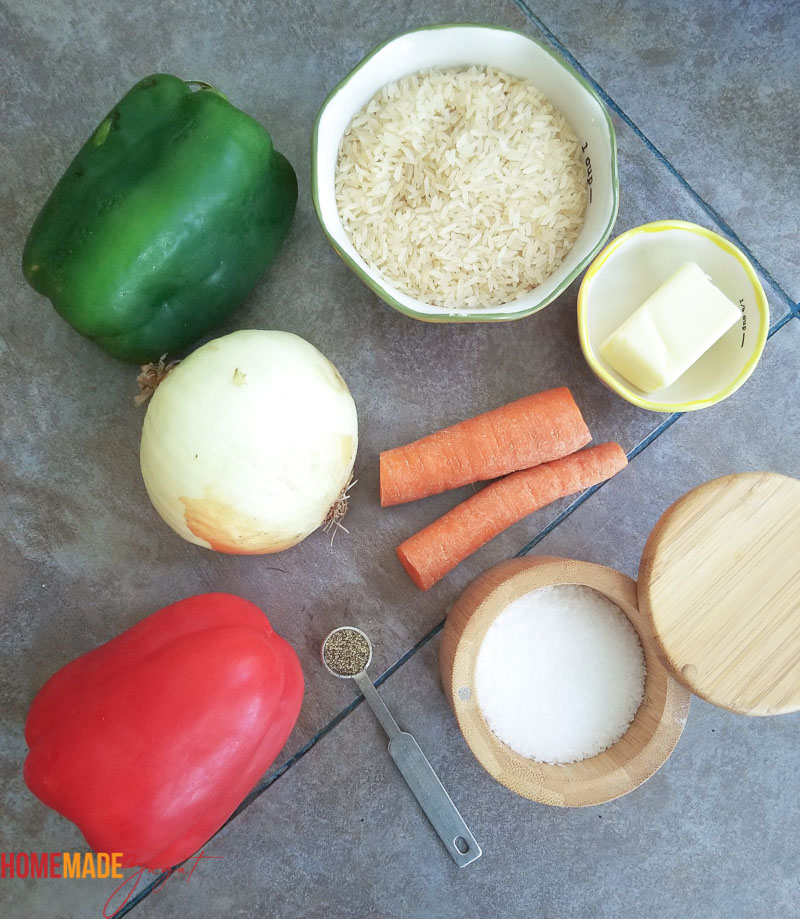 The main ingredients for making calypso rice
