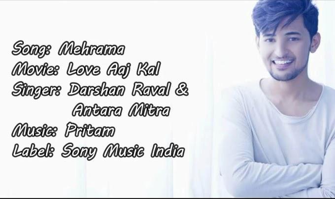 [FULL LYRICS ] Mehrama Lyrics – Love Aaj Kal ( ͡° ͜ʖ ͡°)