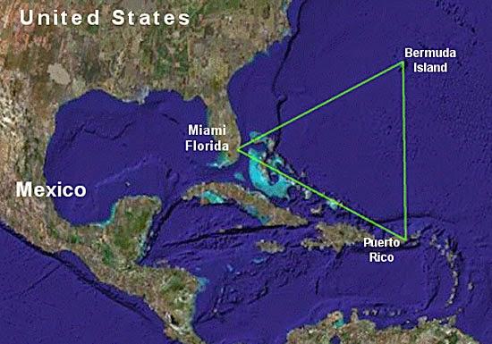 Mapa do Triângulo das Bermudas