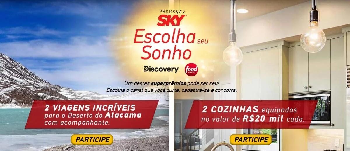 Promoção SKY 2020 Sorteio de uma viagem e cozinha nova