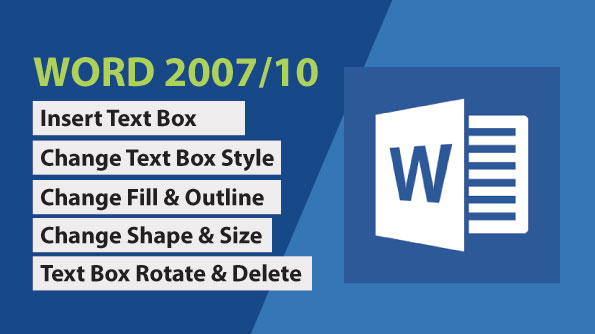Image for Insert and format Text Box in Word All Version