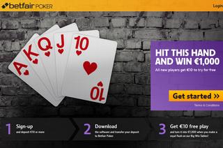 Betfair Poker Landing Page