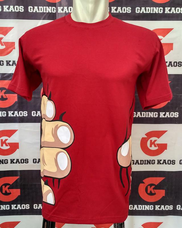 Kaos oblong warna merah
