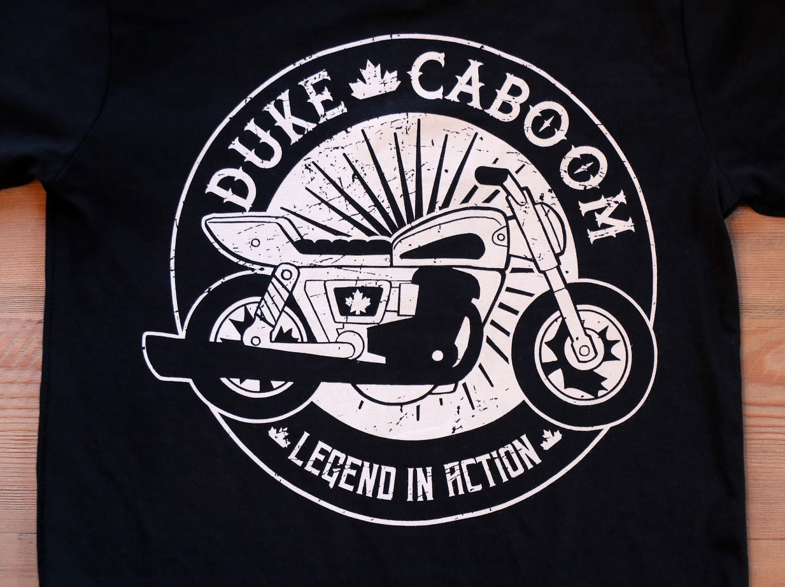 Toy Story 4 Limited Edition Duke Caboom Biker Tee (from Fabric Flavours)