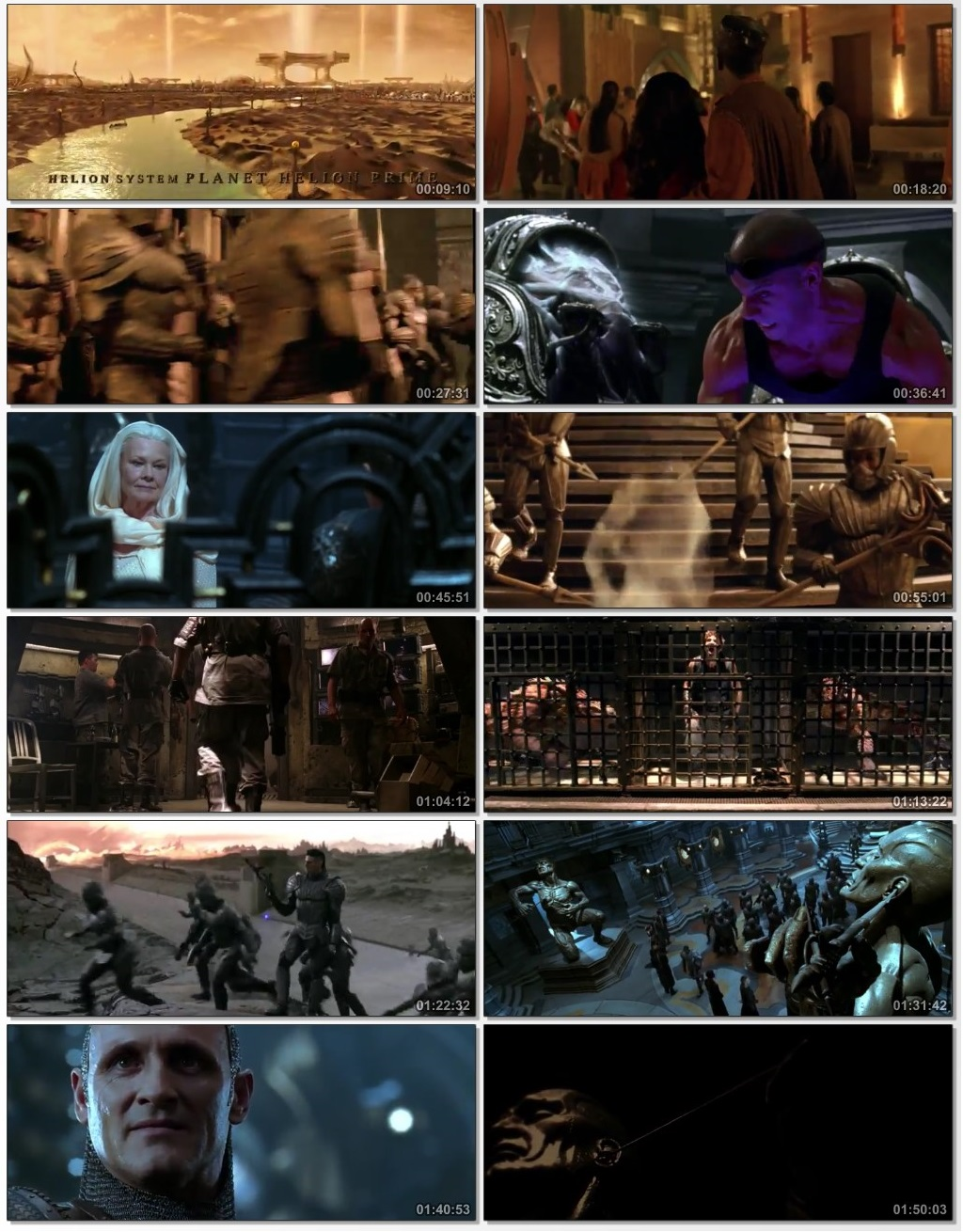Screen Shot Of The Chronicles of Riddick 2004 300MB Full Movie Hindi Dubbed Free Download 480P BRRip Small Size PC Movie