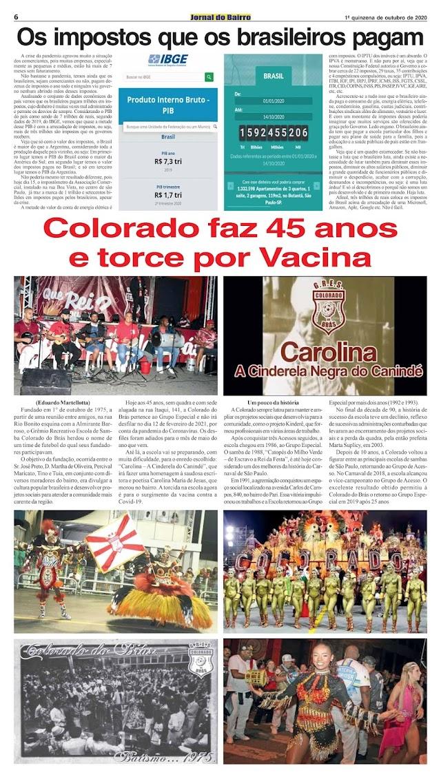 Matérias de Eduardo no Jornal do Bairro - Ed. 1, 2 e 3