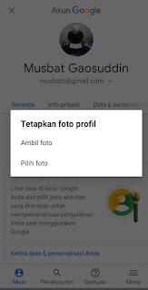 Cara mengganti foto akun profil akun gmail