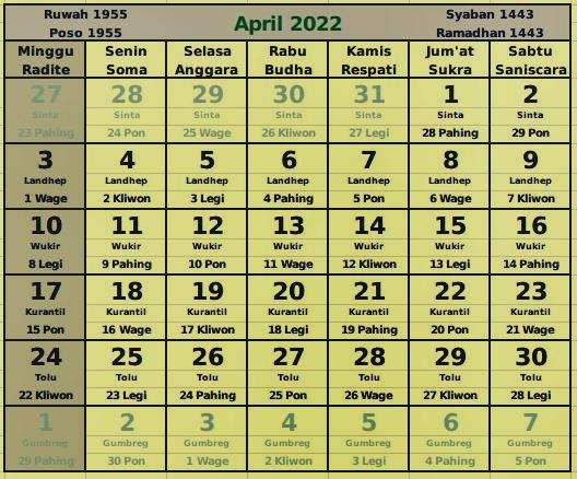 donwload kalender april 2022