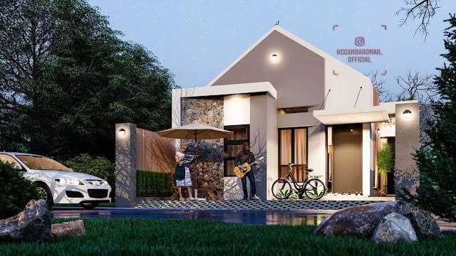 Membangun Terbatas Budget, Rumah Tumbuh Dua Masa, Lahan  7,5 x 17,5 meter