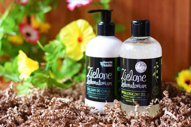 Zielone Laboratorium żel do mycia twarzy i ciała, balsam do ciała