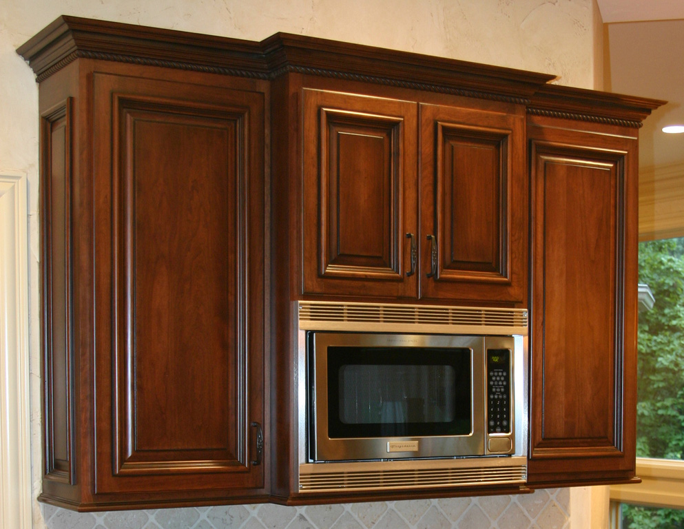 Under Counter Microwave For Easier Works: Kitchen Trends: Kitchen Cabinet Crown Molding