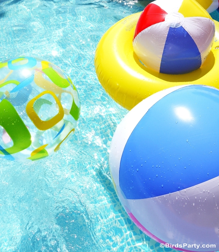 Pool Party Ideas & Printables Kids Summer Party  - BirdsParty.com