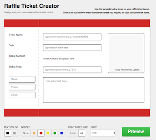 make your own raffle tickets free online