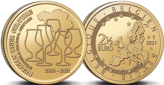 Belgium 2,5 euro 2021 - Beer culture