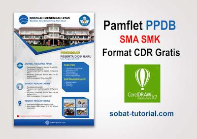 Desain Pamflet PPDB SMA SMK Format Cdr Gratis