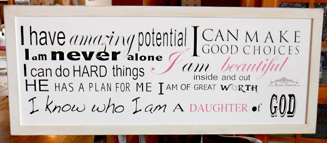 Girls Positive Inspiration Sign, Bliss-Ranch.com