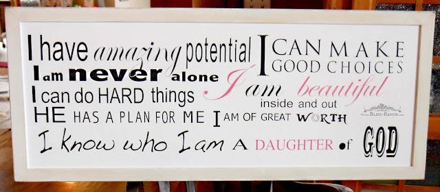 Girls Positive Inspiration Sign, Bliss-Ranch.com
