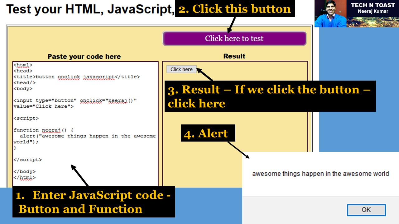 onclick JavaScript button