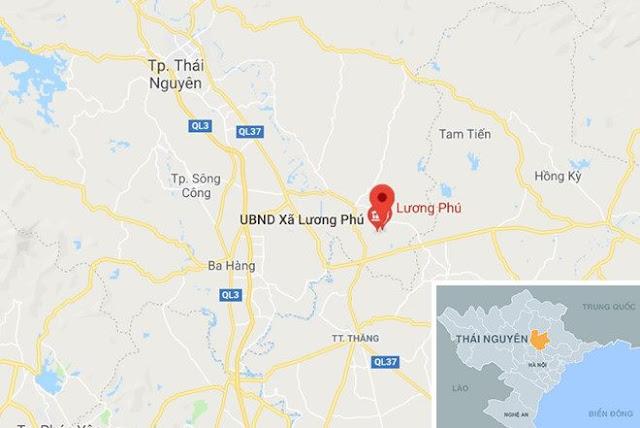 Hiện trường cách TP Thái Nguyên khoảng 30 km