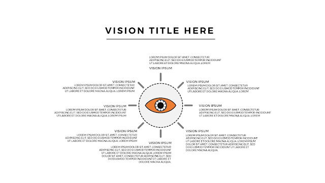 Free Infographic Vision Section with Big Eye For PowerPoint Presentation