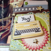 scrapbook layout shimelle laine glitter girl episode 123 scrapbooking cosmo cricket true stories collection embellishment clusters