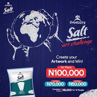 Dangote Salt Art Challenge 2020 | N200,000 in Cash & Consolation Prizes