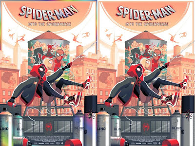 New York Comic Con 2020 Exclusive Spider-Man: Into the Spider-Verse Screen Print by Guillaume Morellec x Grey Matter Art