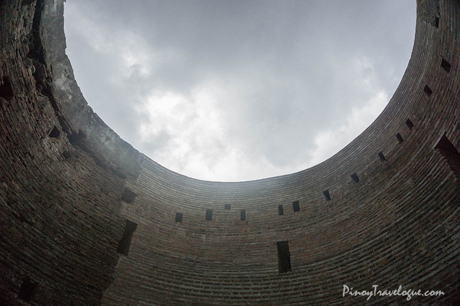 The sky inside the watchtower