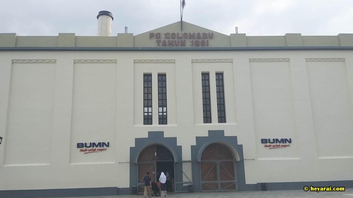 Tampak depan gedung De Tjolomadu