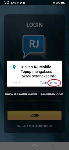 Izinkan RJ Mobile Topup Mengakses Lokasi Perangkat