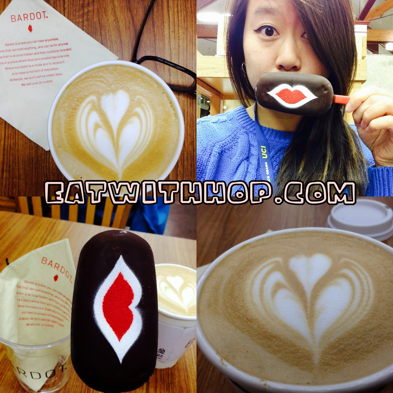 A LATTE LOVE ON A STICK @ BARDOT BARS & COFFEE - IRVINE