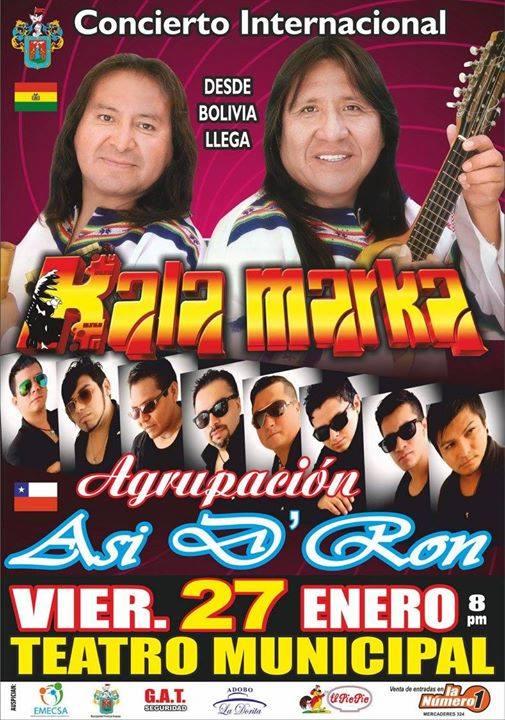 Kala Marka y Así de Ron en Arequipa - 27 de enero