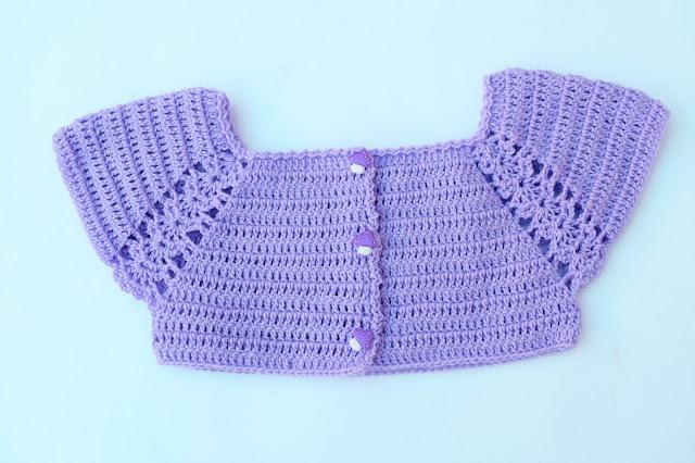 5 - Crochet Imagen Lindo canesú morado a crochet y ganchillo por Majovel Crochet
