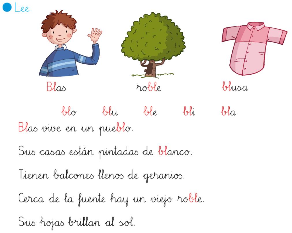 Dibujos Con La Trabada Br: Lecturas Interactivas Con Sílabas Trabadas