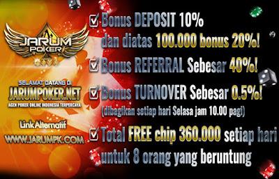 Situs Poker Online uang asli Jarumpoker Bonus deposit terbesar untuk member baru dan member lama