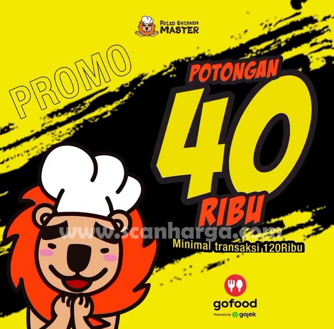 FRIED CHICKEN MASTER Spesial Promo GOFOOD! Diskon Rp 40.000